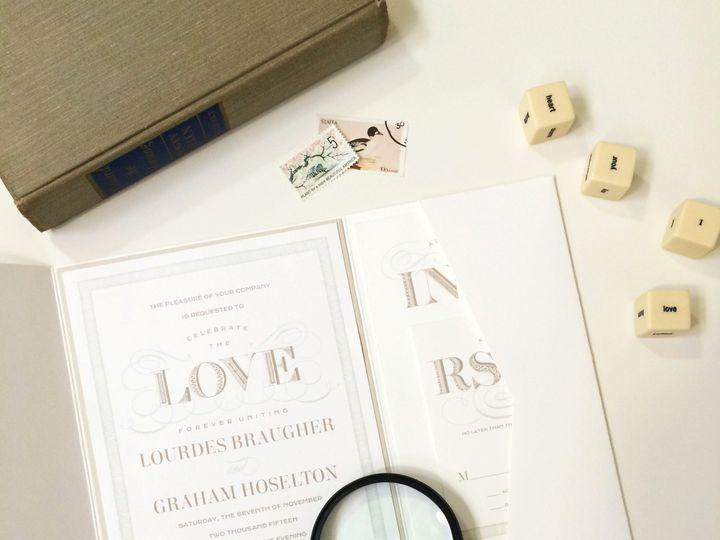 Tmx 1440459386410 Traditional Lovelyswirls Hidden Valley Lake wedding invitation