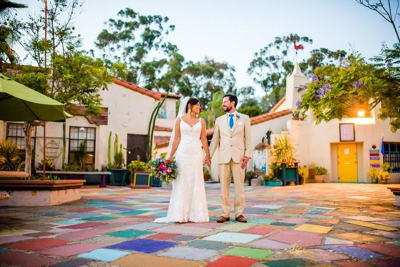 Gorgeous Day for a Wedding at the San Diego Spanish Village!
