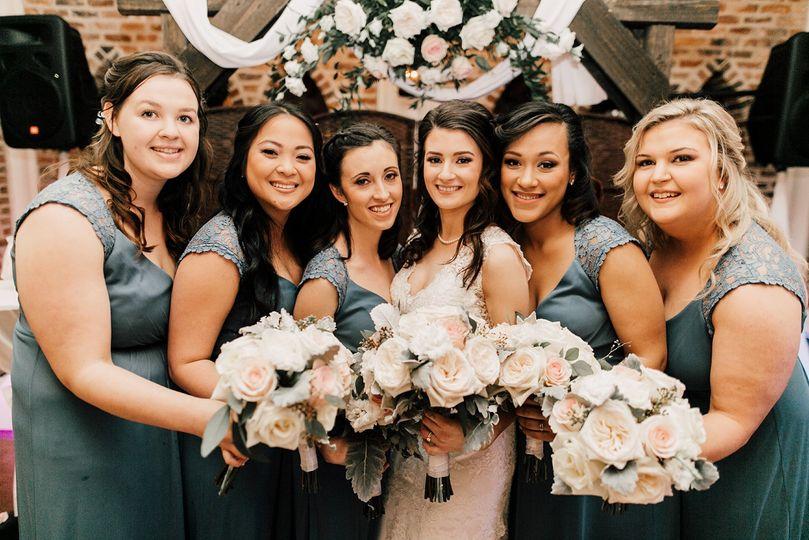 Stunning Bride and Bridesmaids