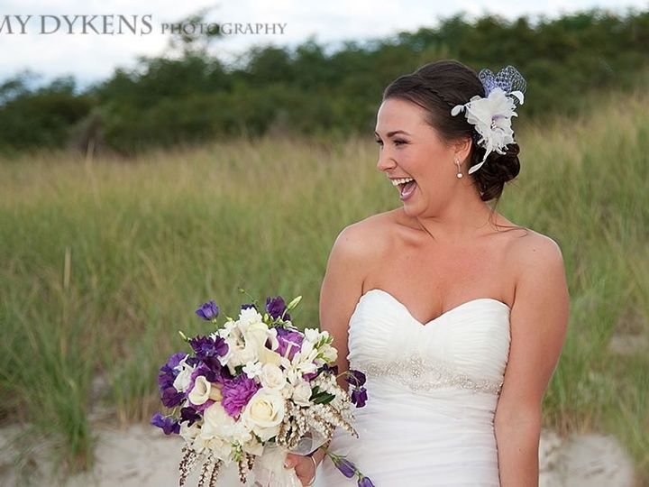 Tmx 1492810774903 Bride Smiling On The Beach With Purple And White F Orleans wedding venue