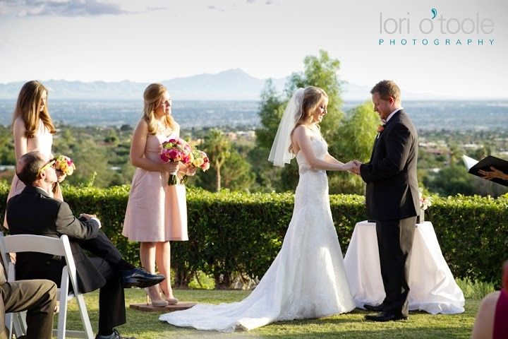 Wedding ceremony in progress