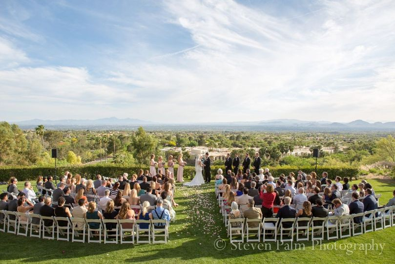 A view of the wedding ceremony