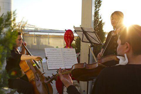 Live sunset performance