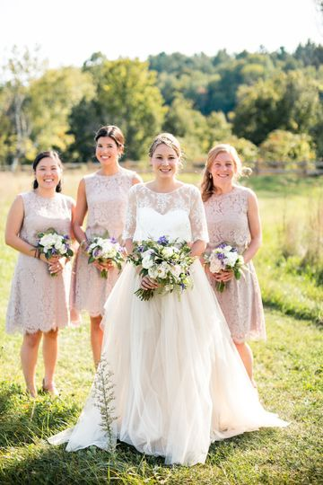 Bride and bridesmaids' bouquets