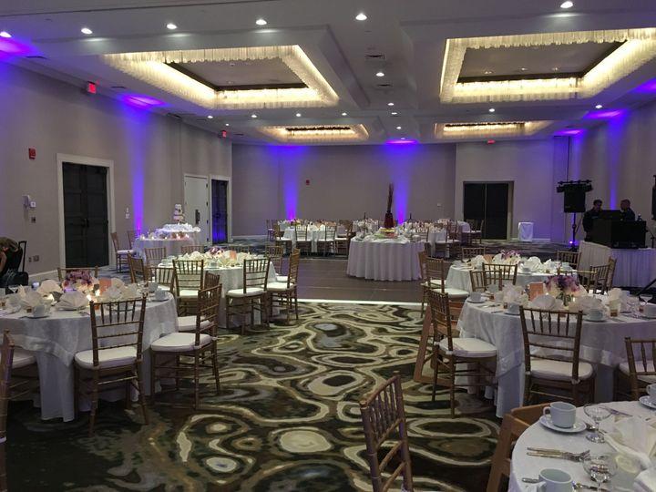 Reception in half Ballroom
