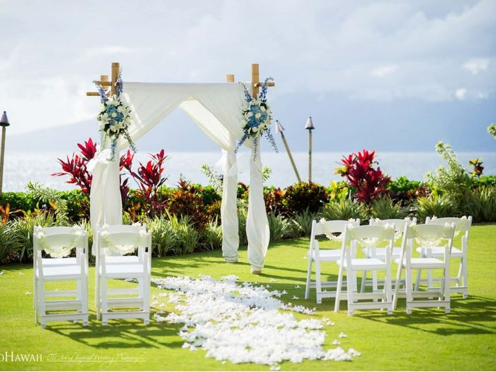 Tmx 1502930995798 Villas Ceremony With White Orchid Path Leis And Ca Lahaina, HI wedding venue