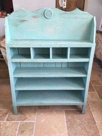 Soft blue shelf
