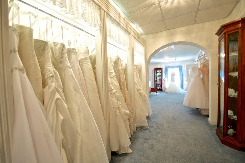 Hundreds of designer gowns in all sizes and prices.