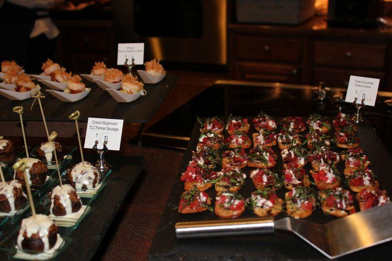 Hors D'OeuvresShrimpTLC Fennel Sausage Stuffed Mushrooms w/ Parmesan CreamBruschetta