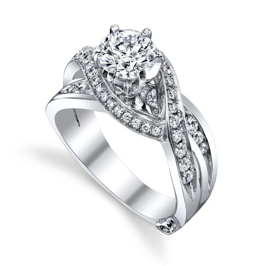 Bedazzle - 15325  The Bedazzle engagement ring contains 45 diamonds, totaling 0.665 ctw....