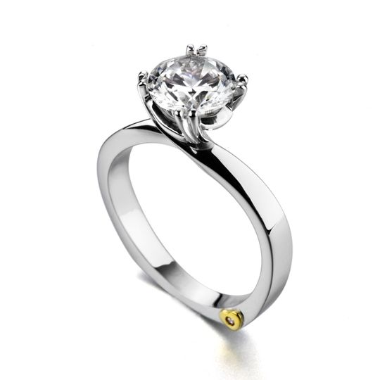 Beloved - 19450  The Beloved engagement ring contains 1 diamonds, totaling 0.005 ctw. Available...
