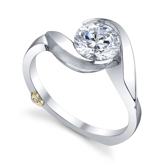 Lilac - 17100  The Lilac engagement ring contains 1 diamonds, totaling 0.005ctw.  Available in...