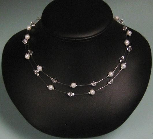 Tmx 1230723419469 Doublestrandillusionnecklace Hillsboro wedding jewelry