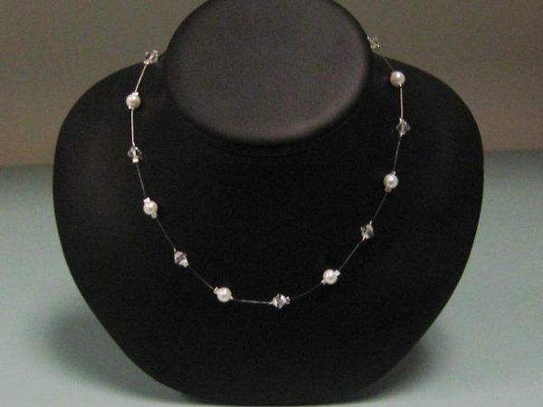 Tmx 1230723420422 Singlestrandillusionnecklace Hillsboro wedding jewelry