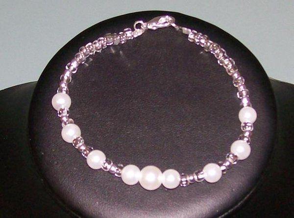 Tmx 1230723442391 SilverlinedCzech%26PearlBracelet Hillsboro wedding jewelry