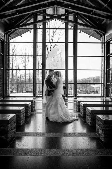 Couple inside the chapel