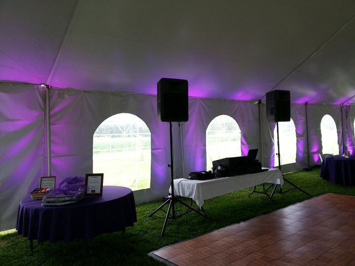 Optional Up-Lighting in a tent