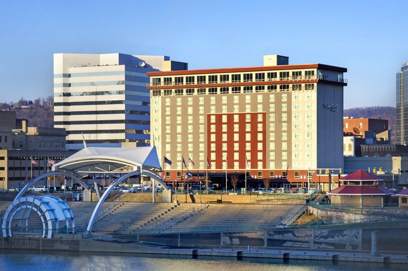 hotel exterior across the river