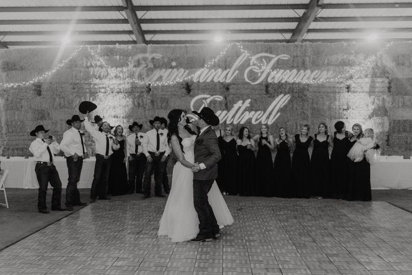 First dance at the reception