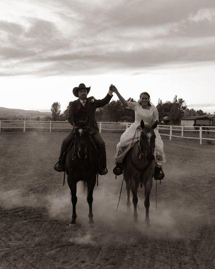 Horseback celebration