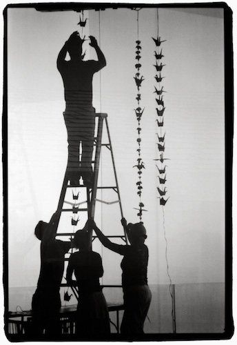 Black and white film photo