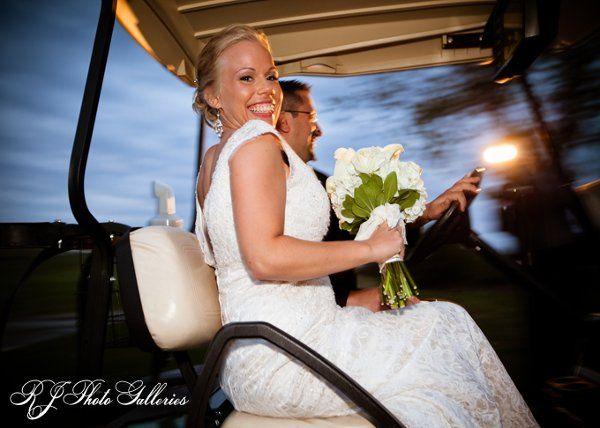 Eloping in a golf cart ...