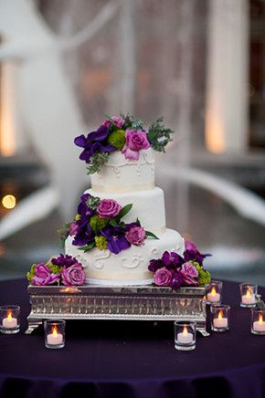 Tmx 1422477582079 Purple Wedding Cakes Fountain Valley wedding cake