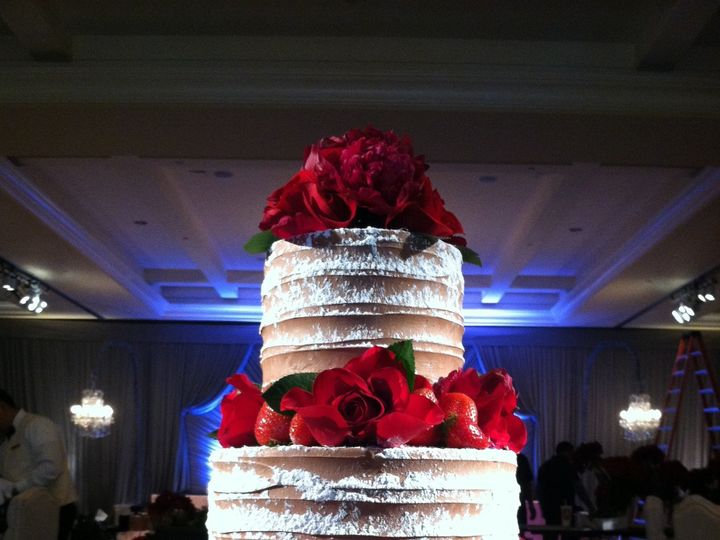 Tmx 1422477718916 Wedding Roses And Strawberries Fountain Valley wedding cake