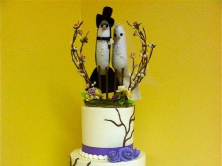 Tmx 1422478139830 Ss Wedd Purple Vine Red Fountain Valley wedding cake
