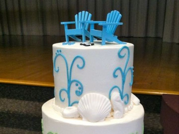 Tmx 1422478151161 Ss Wedding Beach Chairs Red Fountain Valley wedding cake