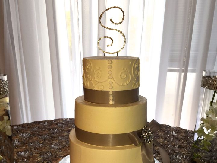 Tmx 1457208983126 Wed Silver Button Fountain Valley wedding cake