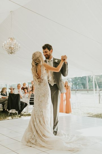 Dance floor, tent lining