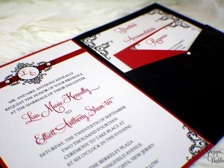 Tmx 1441769235260 Img1171 Copy Toms River, NJ wedding invitation