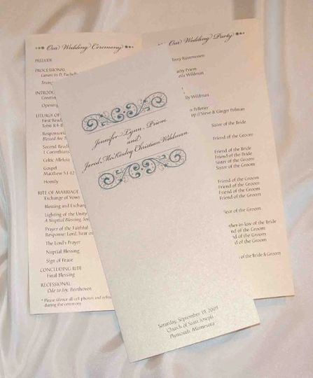 Programs allow your guests to follow along with your ceremony. They also enable you to call out a...