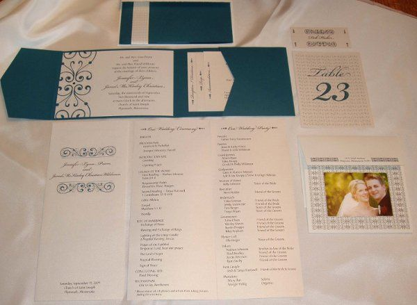 Keep your look consistent! From invitations to thank you notes, Designs By Direction provides all...