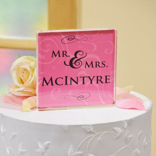 Beautiful personalized cake topper in many styles and colors.
