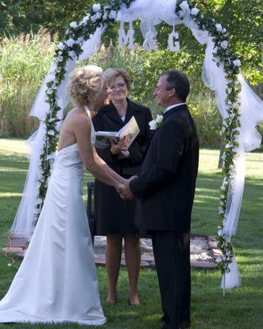 A home wedding can be very intimate