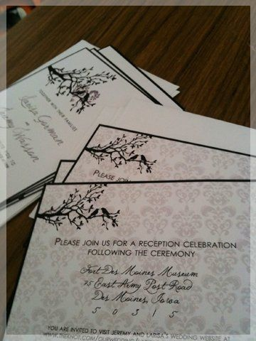 Tmx 1309668499616 Customdamask Foothill Ranch wedding invitation