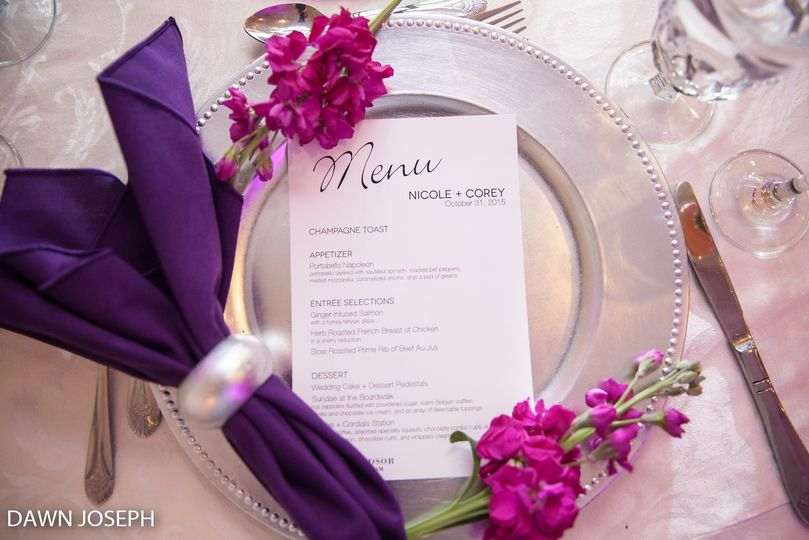 Custom Menu Cards