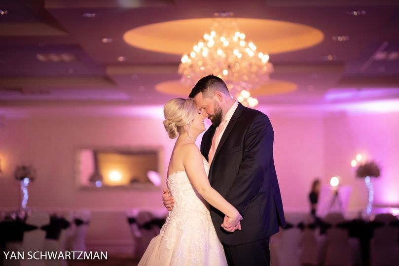 Newlyweds in Windsor Ballroom
