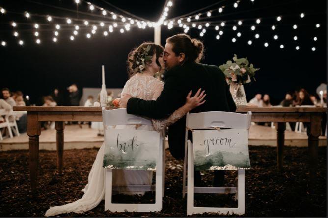 Couple Under Lights