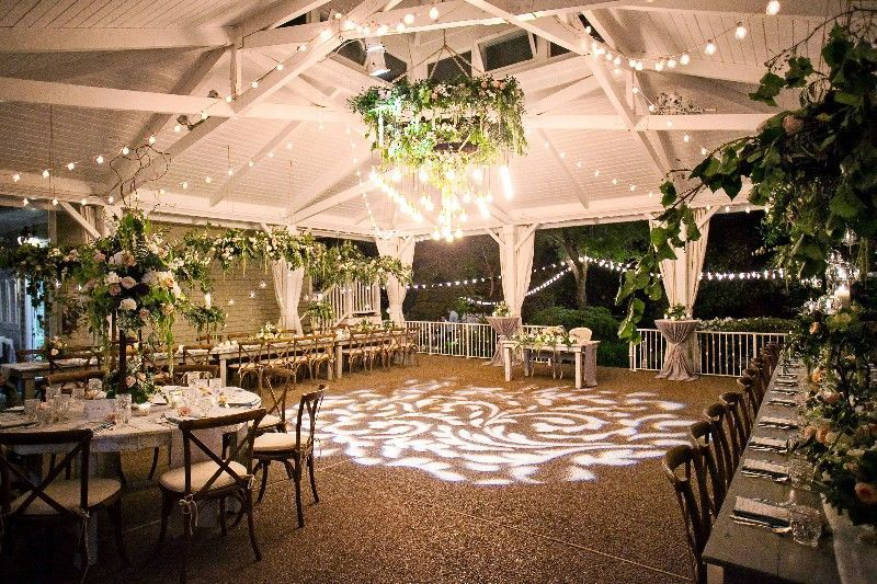 A organic, luxe garden wedding style in our pavilion.