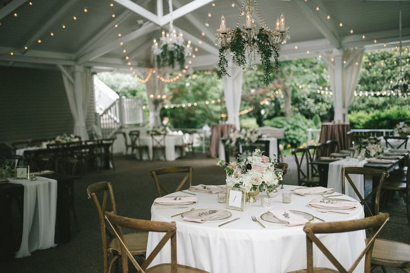 Blush, ivory and white wedding