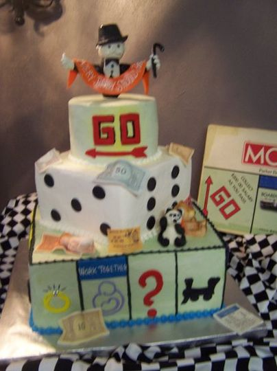Monopoly Cake from Karen's Cakes & Cafe Pharr