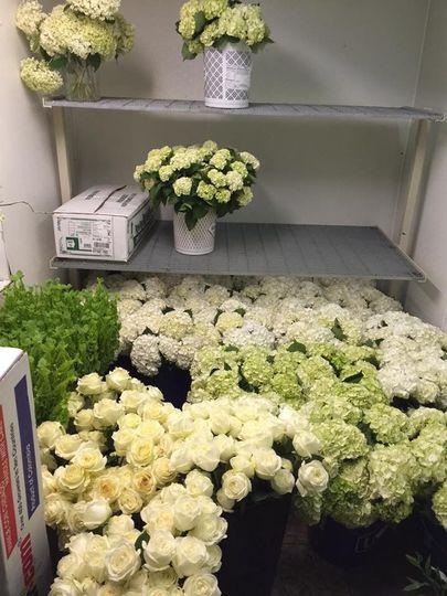 Fresh floral arrangements