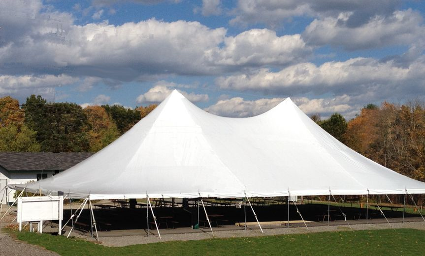 High peak reception tent