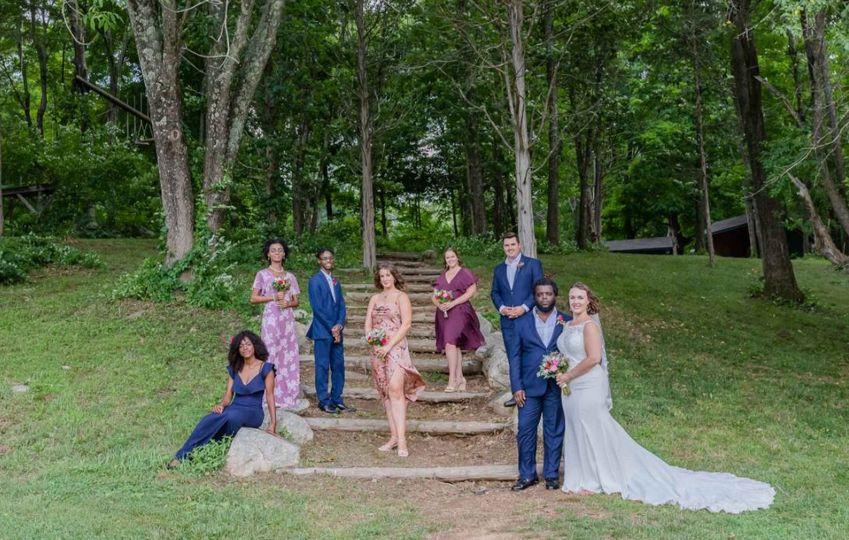 Wedding party outside, Melissa Koren Photography