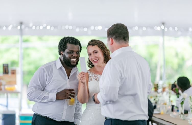 Conversations at the reception, Melissa Koren Photography