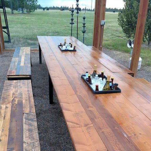 Shaded table seats 20