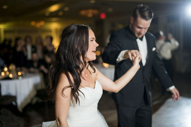 Newlyweds on the dance floor